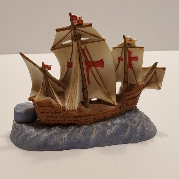 Vintage Other - Vintage Santa Maria Sailboat figurine @1992 Foss